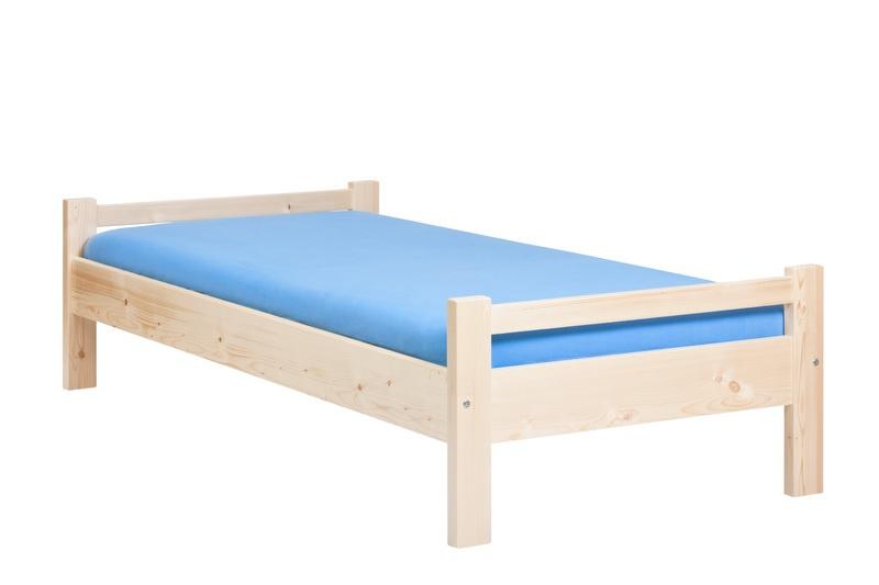HP nábytek Postel 124 Edita | 90x200 bezbarvý lak + DÁREK
